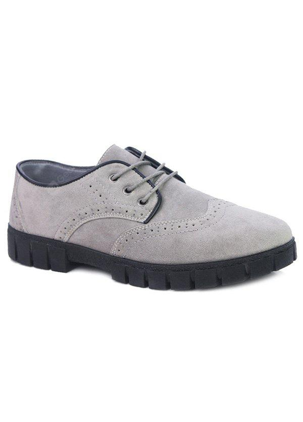 Gravura de camurça Tie Up Casual Shoes
