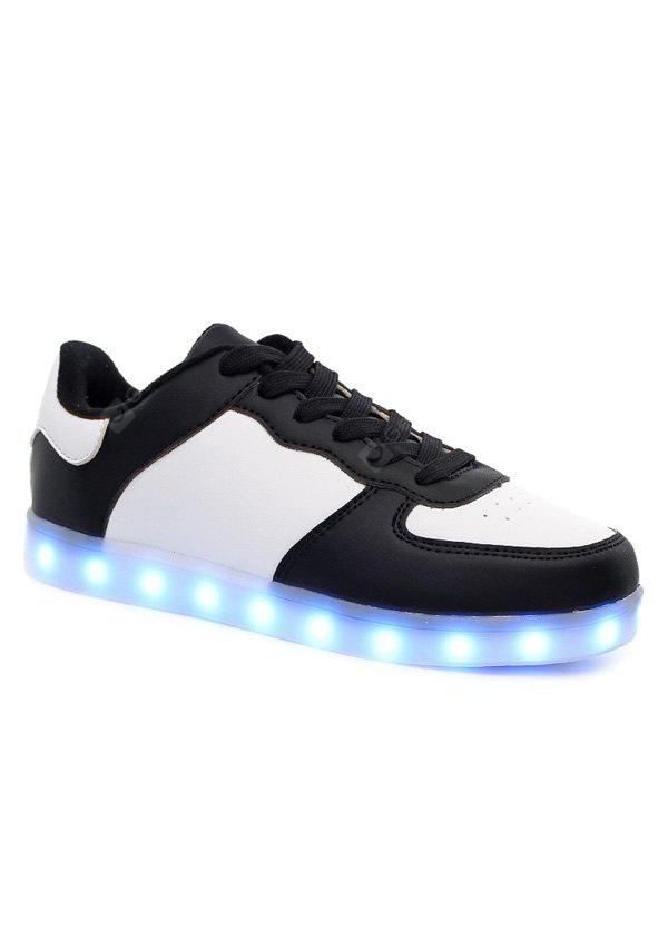 Led Luminous Lights Up Color Splicing Shoes Casual