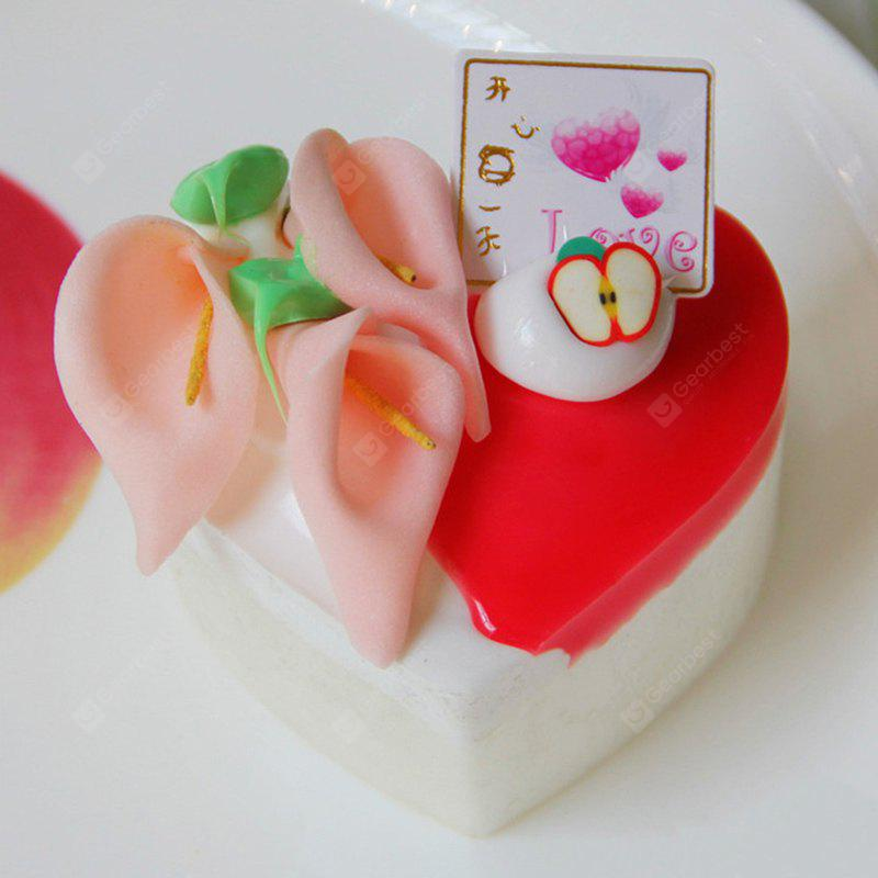 Buy PU Simulation Heart Cake Model Squishy Toy RED