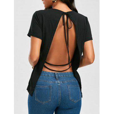 Open Back Strappy Tee