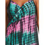 Wrap Cover Up Dress with Illusion Print - PINK