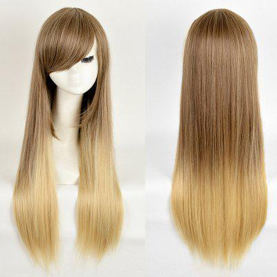 Long Side Bang Straight Ombre Synthetic Wig