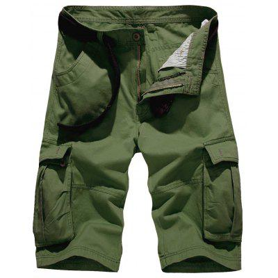 Buy ARMY GREEN Zipper Fly Pockets Embellished Design Cargo Shorts for $30.63 in GearBest store