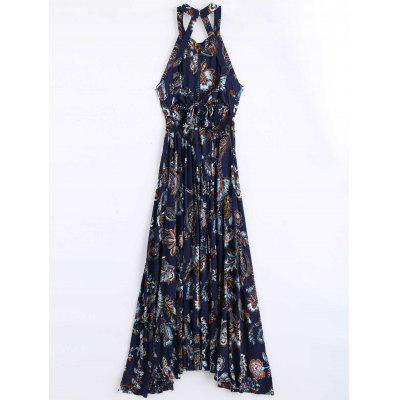 Floral Print Openwork Backless Long DressMaxi Dresses<br>Floral Print Openwork Backless Long Dress<br><br>Dresses Length: Ankle-Length<br>Material: Polyester<br>Neckline: Round Collar<br>Occasion: Beach and Summer<br>Package Contents: 1 x Dress<br>Pattern Type: Floral<br>Season: Summer<br>Sleeve Length: Short Sleeves<br>Weight: 0.4000kg<br>With Belt: No