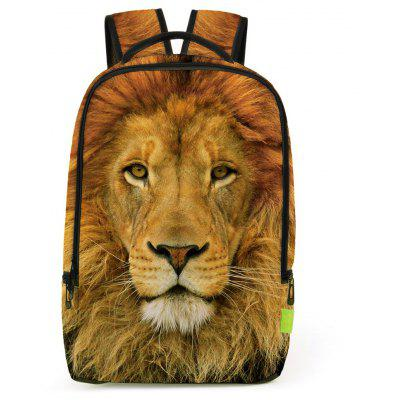Buy LIGHT BROWN Lion 3D Print Backpack for $20.99 in GearBest store