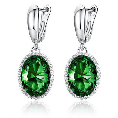 Faux Crystal Zircon Earrings For Women