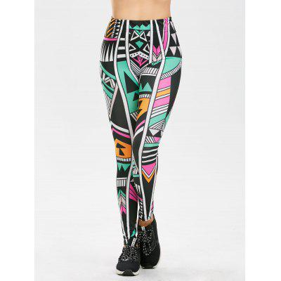 High Rise Geometric Print LeggingsPants<br>High Rise Geometric Print Leggings<br><br>Material: Polyester<br>Package Contents: 1 x Leggings<br>Pattern Type: Geometric<br>Style: Casual<br>Waist Type: High<br>Weight: 0.2100kg