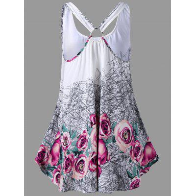 U Neck Floral Open Back Tank TopTank Tops<br>U Neck Floral Open Back Tank Top<br><br>Material: Rayon, Spandex<br>Package Contents: 1 x Tank Top<br>Pattern Type: Floral<br>Shirt Length: Regular<br>Style: Casual<br>Weight: 0.1900kg