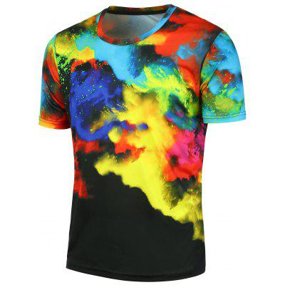 3D Tie Dyed Short Sleeves Tee