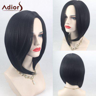 Buy BLACK Adiors Side Parting High Low Short Bob Straight Synthetic Wig for $17.55 in GearBest store