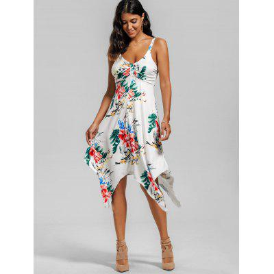 Floral Print Handerchief DressWomens Dresses<br>Floral Print Handerchief Dress<br><br>Dress Type: Slip Dress<br>Dresses Length: Mid-Calf<br>Elasticity: Elastic<br>Material: Spandex, Polyester<br>Neckline: U Neck<br>Package Contents: 1 x Dress<br>Pattern Type: Floral<br>Season: Summer<br>Silhouette: Handkerchief<br>Sleeve Length: Sleeveless<br>Style: Brief<br>Weight: 0.2400kg<br>With Belt: No