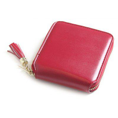 Tassel Zip Around Small Wallet