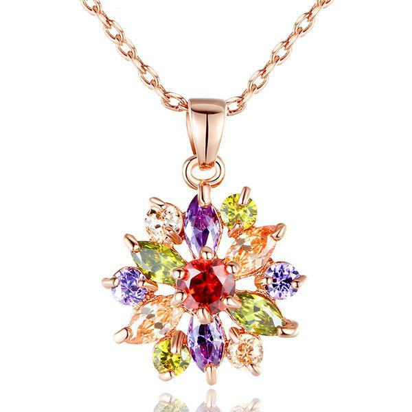 COLORMIX Rhinestone Link Chain Pendant Necklace