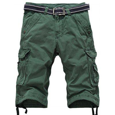 Zipper Fly Multiple Pockets Cargo Shorts