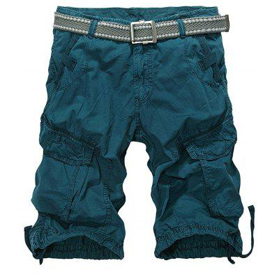 Zip Fly Cargo Shorts with Multiple Pockets