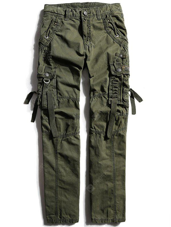 Zip Fly Cargo Pants with Multi Pockets