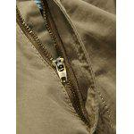 Zip Fly Cargo Shorts with Multiple Pockets - AZUL VERDE