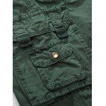 Zipper Fly Multiple Pockets Cargo Shorts - CAQUI