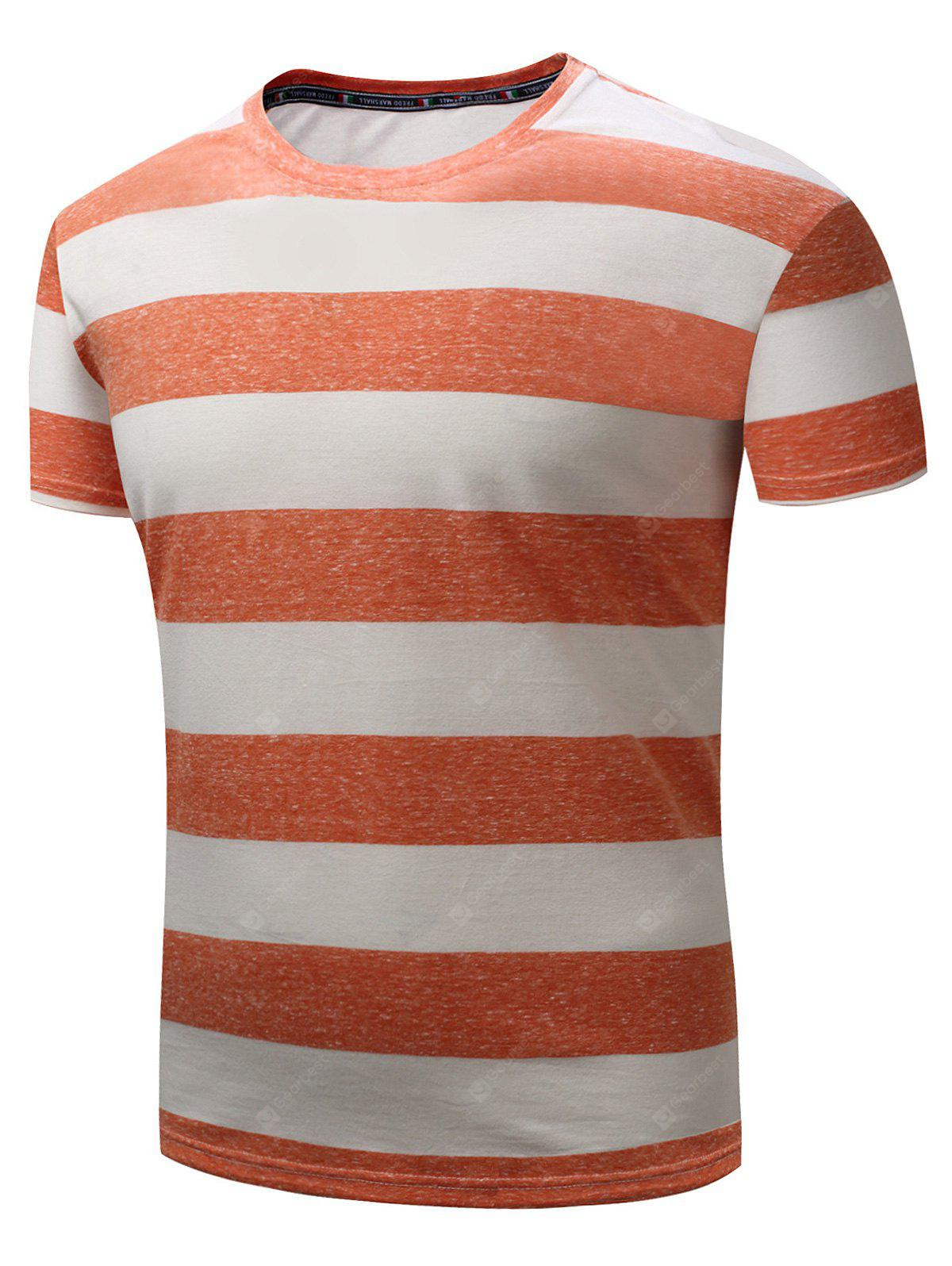 T-shirt a righe larghe a manica