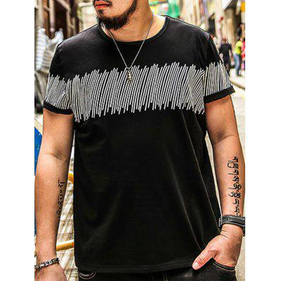 Plus Size Lines Stampa Tee