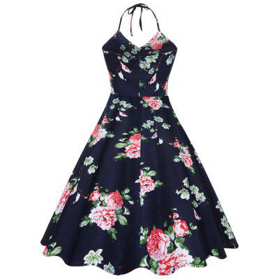 Vintage Halter Floral Print Backless DressWomens Dresses<br>Vintage Halter Floral Print Backless Dress<br><br>Dresses Length: Knee-Length<br>Embellishment: Backless<br>Material: Cotton, Polyester<br>Neckline: Halter<br>Package Contents: 1 x Dress<br>Pattern Type: Floral<br>Season: Summer<br>Silhouette: A-Line<br>Sleeve Length: Sleeveless<br>Style: Vintage<br>Weight: 0.4500kg<br>With Belt: No