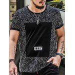 Plus Size Splatter Print Graphic Tee - BLACK