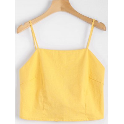 Bowknot Cut Out Cropped Tank Top