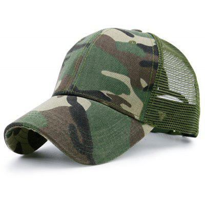 Mesh Spliced Camouflage Pattern Baseball Dad's Hat