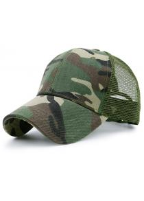 Mesh Spliced Camouflage Pattern Baseball Hat