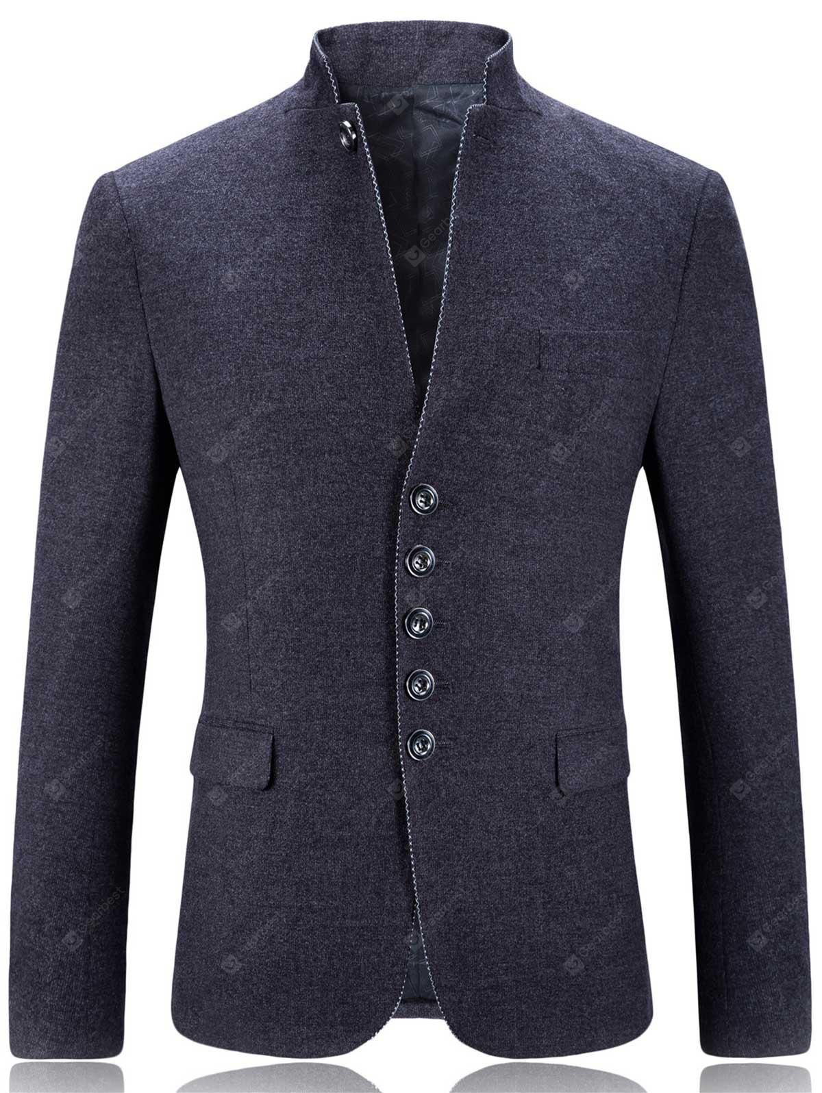 Stand Collar Single Breasted Slim Fit Blazer