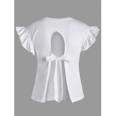 Ruffle Tied Back Short Top