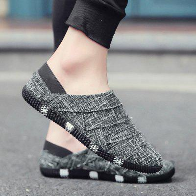 Linen Slip On Casual Shoes