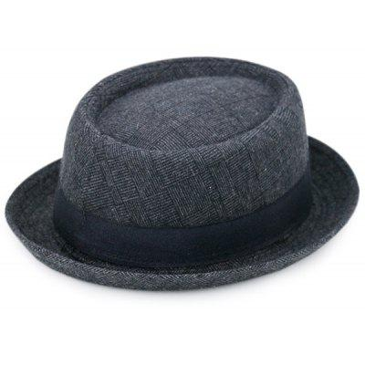 Ribbon Pinstripe Plaid Pork Pie Hat