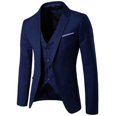 Single Button Blazer and Pants TwinsetMens Blazers<br>Single Button Blazer and Pants Twinset<br><br>Closure Type: Single Breasted<br>Front Style: Flat<br>Material: Cotton, Polyester<br>Package Contents: 1 x Blazer  1 x Pants<br>Pant Closure Type: Zipper Fly<br>Shirt Length: Regular<br>Type: Suits<br>Weight: 1.1500kg