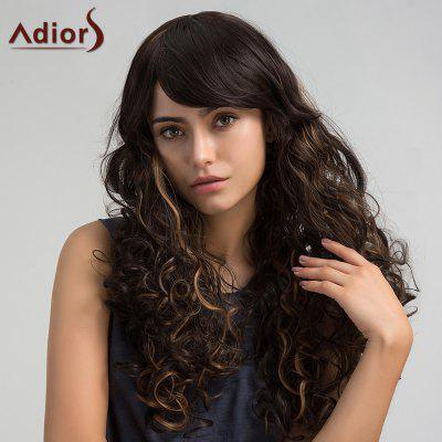 Buy COLORMIX Adiors Long Colormix Side Bang Shaggy Layered Curly Synthetic Wig for $18.43 in GearBest store