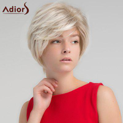 Adiors Short Side Part Colormix Shaggy Straight Synthetic Wig