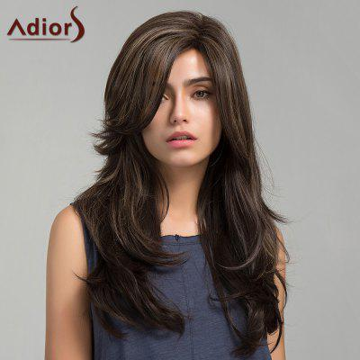 Adiors Long Side Bang Colormix Slightly Curly Synthetic Wig
