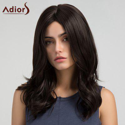 Adiors Long Middle Part Tail Upwards Slightly Curly Synthetic Wig