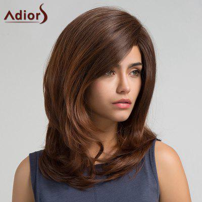 Buy BROWN Adiors Long Side Bang Silky Slightly Curly Synthetic Wig for $17.45 in GearBest store