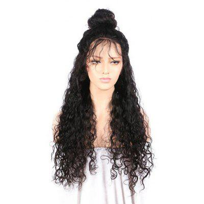 Buy BLACK Long Free Part Kinky Curly Lace Front Synthetic Wig for $60.88 in GearBest store