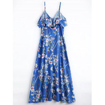 Floral Ruffles Button Up Maxi DressMaxi Dresses<br>Floral Ruffles Button Up Maxi Dress<br><br>Dresses Length: Ankle-Length<br>Embellishment: Ruffles<br>Material: Polyester<br>Neckline: Spaghetti Strap<br>Occasion: Beach and Summer, Casual , Going Out<br>Package Contents: 1 x Dress<br>Pattern Type: Floral<br>Season: Summer<br>Sleeve Length: Sleeveless<br>Weight: 0.3400kg<br>With Belt: No