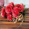 Vintage Artificial Flowers Living Room Party Decoration - VERMELHO