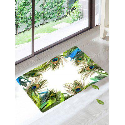 Buy COLORMIX Peacock Feather Soft Anti Slip Bathroom Mat for $11.93 in GearBest store
