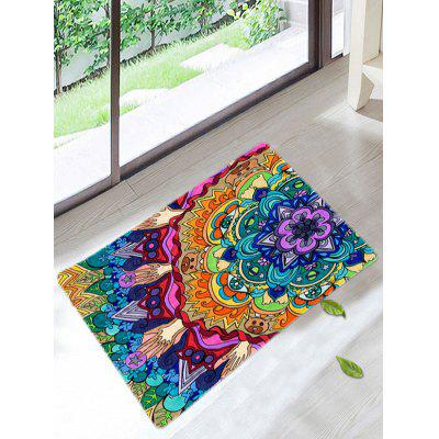 Mandala antiderrapante Coral Fleece Floor Bath Mat