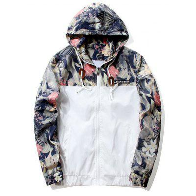 Floral Printed Hip Hop Jacket