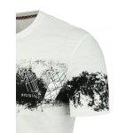 Slim Printed Short Sleeve T-shirt - BRANCO