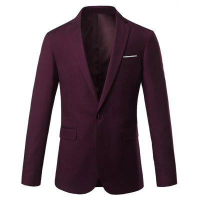 Lapel Slim Fit One Button Edging Blazer