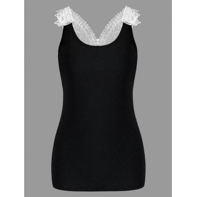 Lace Trim Cutwork Slim Tank TopTank Tops<br>Lace Trim Cutwork Slim Tank Top<br><br>Embellishment: Lace<br>Material: Rayon, Spandex<br>Package Contents: 1 x Tank Top<br>Pattern Type: Others<br>Shirt Length: Short<br>Style: Casual<br>Weight: 0.1900kg