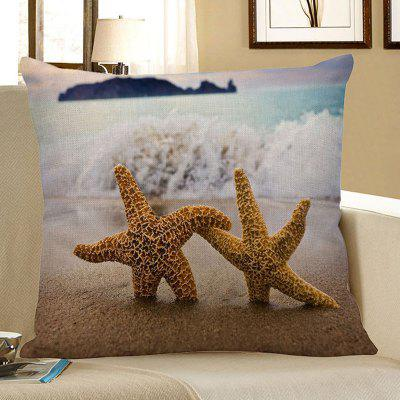 Home Decor Starfish Beach Style Pillow Case