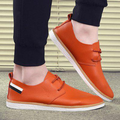 Tie Up Striped Casual Shoes